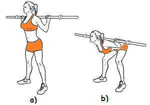 Как выполнять упражнение наклоны с грифом