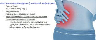 Симптомы пиелонефрита у женщин