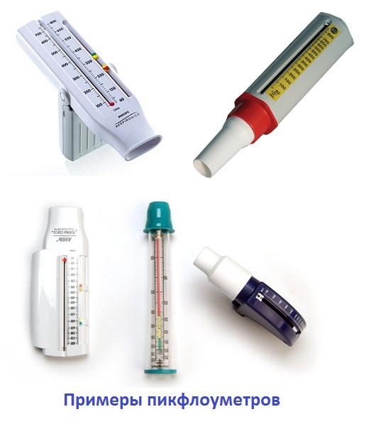 Примеры пикфлоуметров
