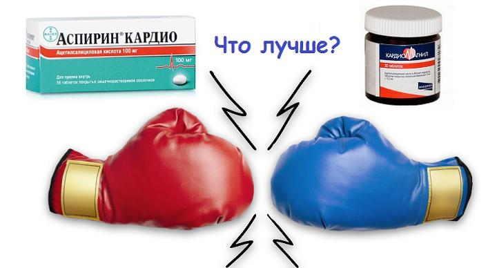 Аспирин Кардио и Кардиомагнил – сравнение