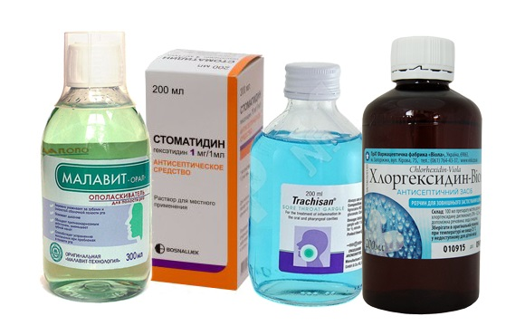 Антисептические средства для полоскания для воспаленных десен