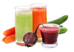 Свекольный, огуречный и морковный сок